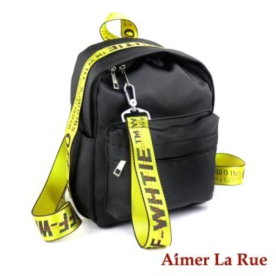 Aimer La Rue 潮流織帶尼龍後背包(三色)