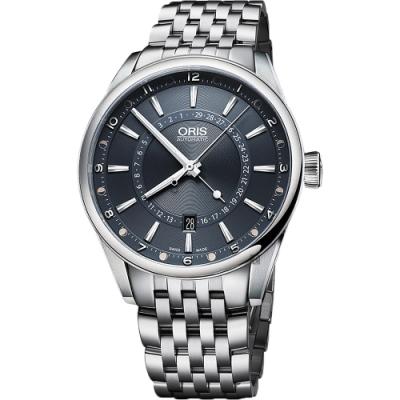 ORIS 豪利時 Artix Tycho Brahe 月亮週期限量機械錶-藍x銀/42mm
