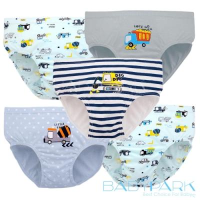 (五件組)BabyPark 韓國純棉兒童內褲-卡車大隊 三角褲