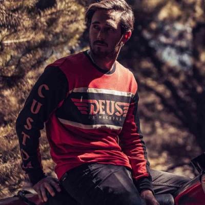 Deus Ex Machina  Ruben Moto 長袖T恤-黑紅(男/女)