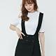 H:CONNECT 韓國品牌 女裝-排釦設計吊帶洋裝-黑 product thumbnail 2