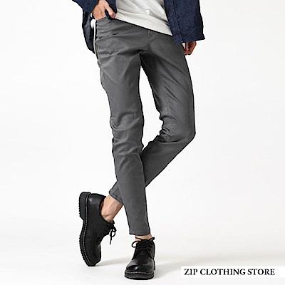 貼身窄管褲百搭素色(8色) ZIP日本男裝