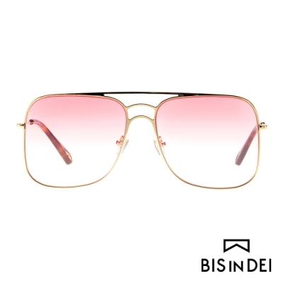 BIS IN DEI 雙槓大方框太陽眼鏡-粉