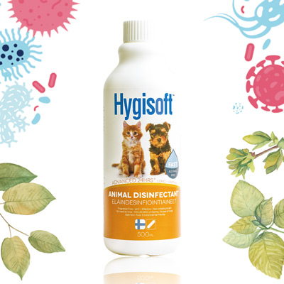芬蘭Hygisoft科威寵物體味控制抗菌補充-500ml*1