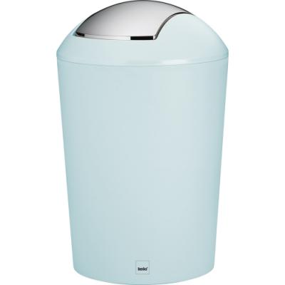 《KELA》搖擺蓋垃圾桶(淡藍5L)