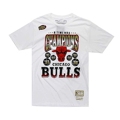M&N NBA冠軍紀念T恤 公牛隊 白