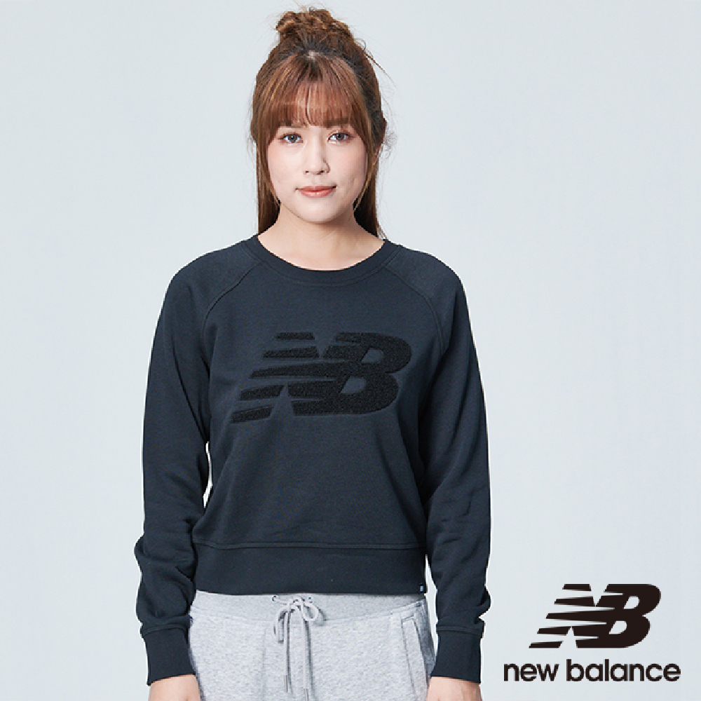 New Balance 雪呢絨圓領刷毛長袖上衣 AWT83565BK 女 黑