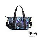 Kipling 渲染潑墨金點印花手提側背包-ART MINI