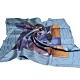 LOUIS VUITTON 義大利製復古飛機印花圖騰100%絲質正方形披肩/絲巾(藍色底/展示品出清) product thumbnail 1