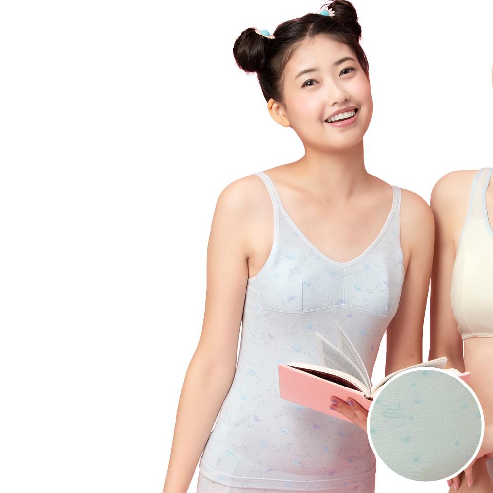 嬪婷-學生一階段M-3L長背心(綠)天使寶貝棉