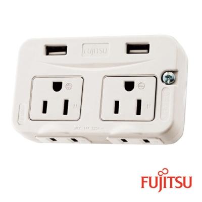 富士通電源轉接壁插(<b>3</b>孔*<b>2</b> <b>2</b>孔*<b>2</b> USB*<b>2</b>)(新規)