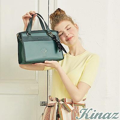 KINAZ x PEANUTS™ 希望羽翼兩用斜背包-薄荷糖綠-勇敢愛系列
