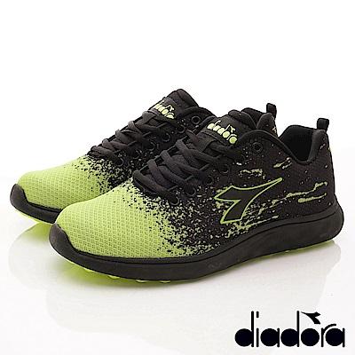 DIADORA-減壓動能跑鞋款 SI955黑綠(男段)
