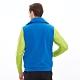 【Lynx Golf】男款防潑水LXG防水反光貼條胸袋無袖鋪棉背心-寶藍色 product thumbnail 2
