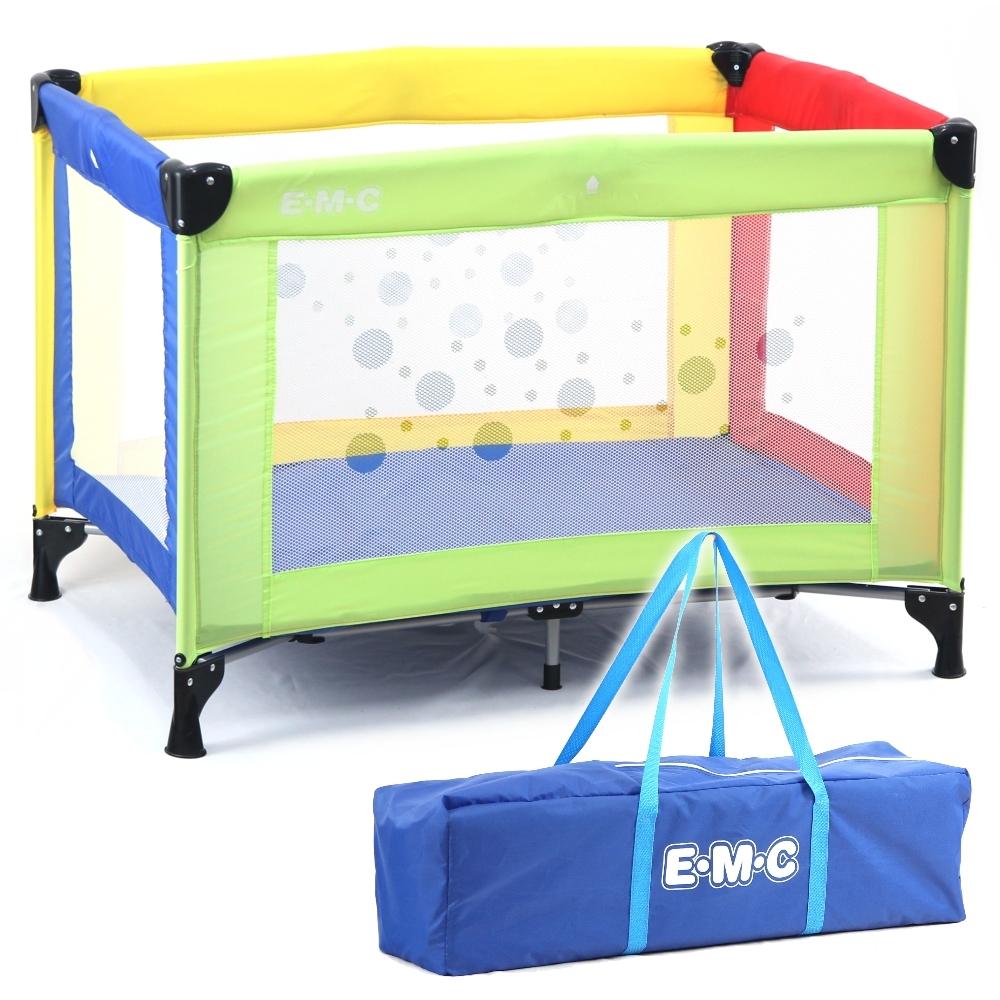 EMC 輕巧型安全嬰兒床(具遊戲功能)(彩色)