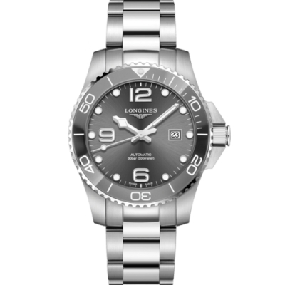 LONGINES 浪鬼征服者系列陶瓷潛水機械錶(L37824766)-43mm/灰