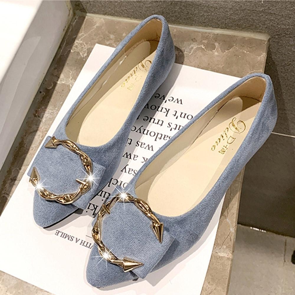 KEITH-WILL時尚鞋館 狂賣千雙凡桃俗李素面綁帶尖頭鞋-淺藍
