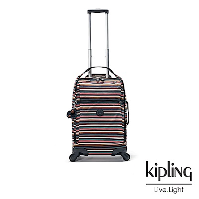 Kipling 繽紛仲夏條紋21吋舒適提把實用登機箱-DARCEY