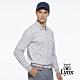 【Lynx Golf】男款純棉雙絲光方格繽紛花色胸袋款長袖POLO衫-白色 product thumbnail 2