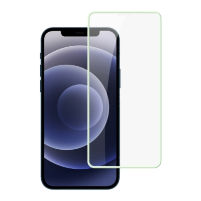 iPhone 12 保護貼 夜光 軟邊 氣墊 鋼化膜 氣墊夜光x1 ( iPhone12保護貼 12保護貼 12 )
