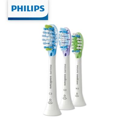 【Philips 飛利浦】綜合刷頭三入組 HX9073/67(清潔/護銀/美白各1支-白)