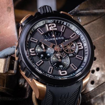 BOMBERG 炸彈錶 BOLT-68 復刻黑金計時手錶(BS45CHPPKBA.062-1.11)