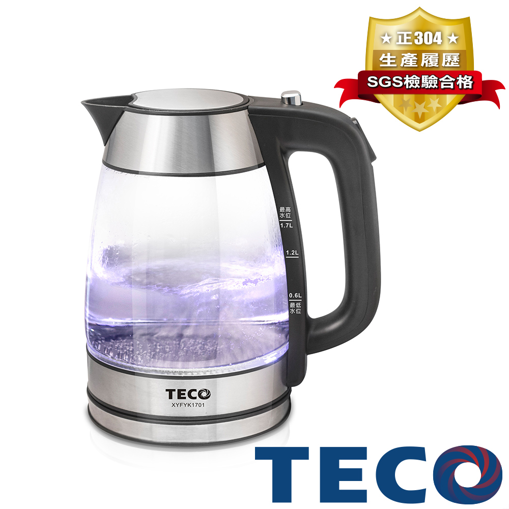 TECO東元 玻璃快煮壺 XYFYK1701