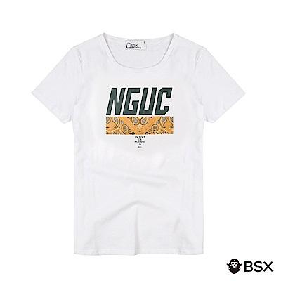 BSX 男裝VON印花短袖T恤-07 白色