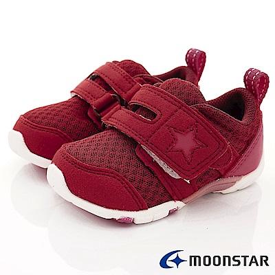 日本月星頂級童鞋 2E後套穩定款 EI882酒紅(寶寶段)