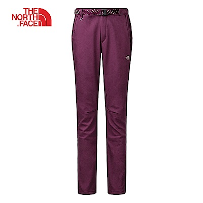 The North Face北面女款紫色防水保暖休閒長褲|3L7L3YE