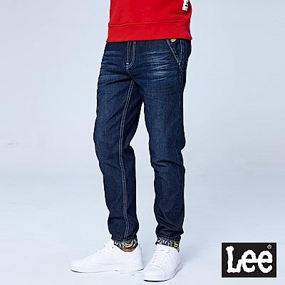Lee 731中腰舒適小直筒牛仔褲/Smiley-深藍