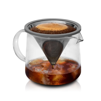 Driver Moka 不鏽鋼濾杯咖啡壺組(400ml)
