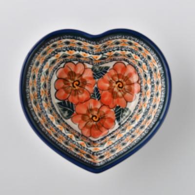 波蘭陶 艷夏扶桑系列 愛心造型烤盤 波蘭手工製