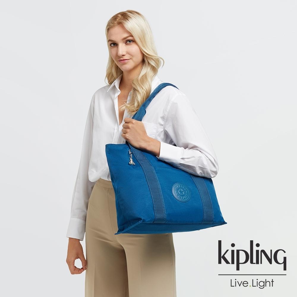 Kipling 典雅紺青色大容量手提包-ERA M