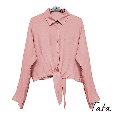 氣質綁帶薄襯上衣 TATA