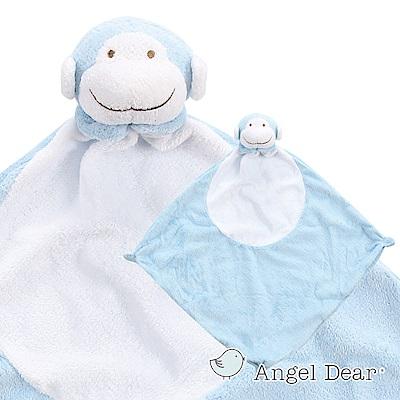 美國 Angel Dear 動物嬰兒安撫巾 (藍色小猴)