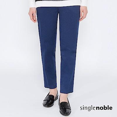 獨身貴族 女紳標誌壓褶純色直筒褲(2色) @ Y!購物
