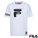 FILA x GTM 聯名款 短袖圓領T恤-白1TER-5400-WT