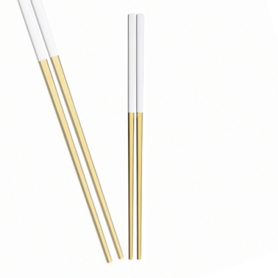 Royal Duke 葡萄牙同款方筷-白金色(歐洲時尚簡約)