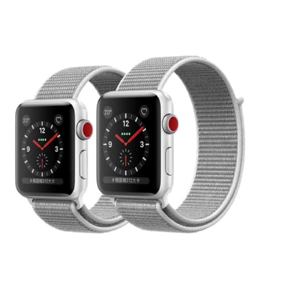 Apple Watch Series3 GPS+行動網路42公釐 銀鋁/貝殼白錶環