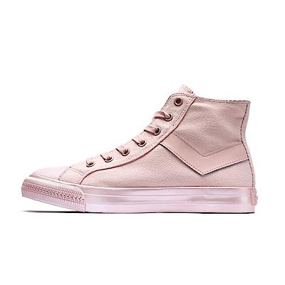 【PONY】Shooter系列珍珠光感鞋面帆布鞋 女鞋 減齡少女粉