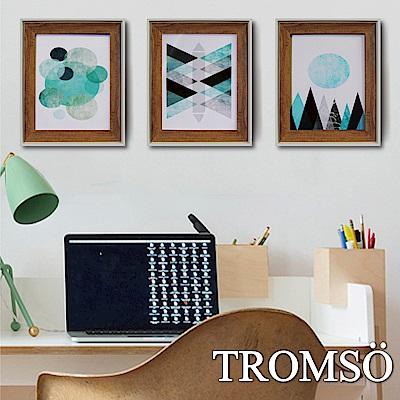 TROMSO北歐格調金屬木紋8X10相框三入組-摩登藍調
