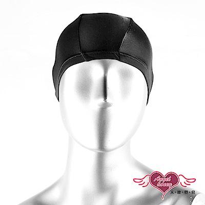 泳帽 休閒戲水高彈力布面泳帽(黑F) AngelHoney天使霓裳