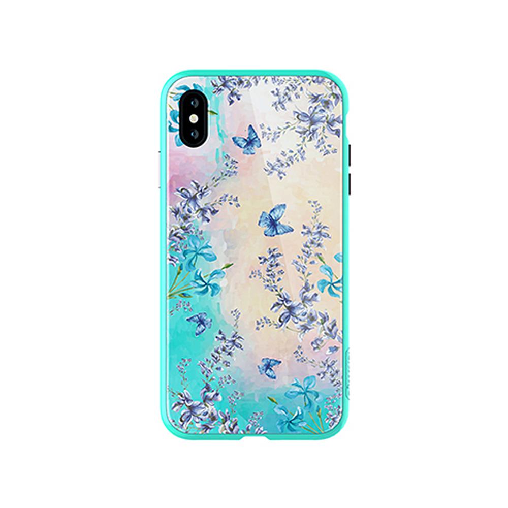 NILLKIN Apple iPhone Xs Max 蝶之戀玻璃手機殼