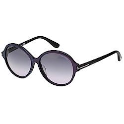 TOMFORD 圓框 太陽眼鏡(紫色藍色系)TF9343