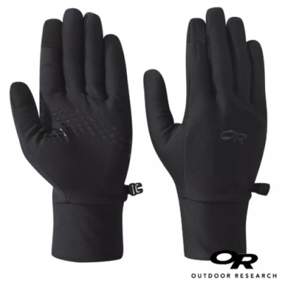 Outdoor Research 男 Vigor Lightweight Sensor Gloves 輕薄刷毛保暖手套_觸控手套_黑