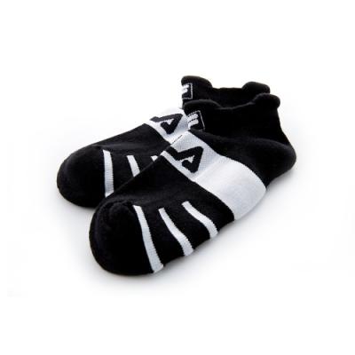 FILA 基本款半毛巾踝襪-黑 SCT-5001-BK