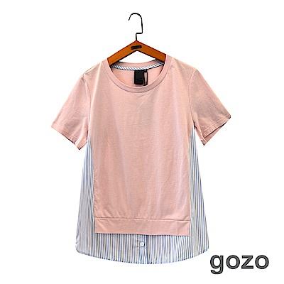 gozo 線條拼接假二件造型上衣(二色)