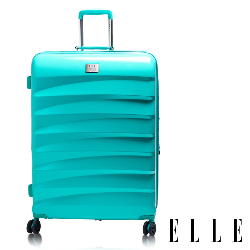 ELLE 20吋法式橫條紋純PC霧面防刮行李箱 - 蒂芬妮綠