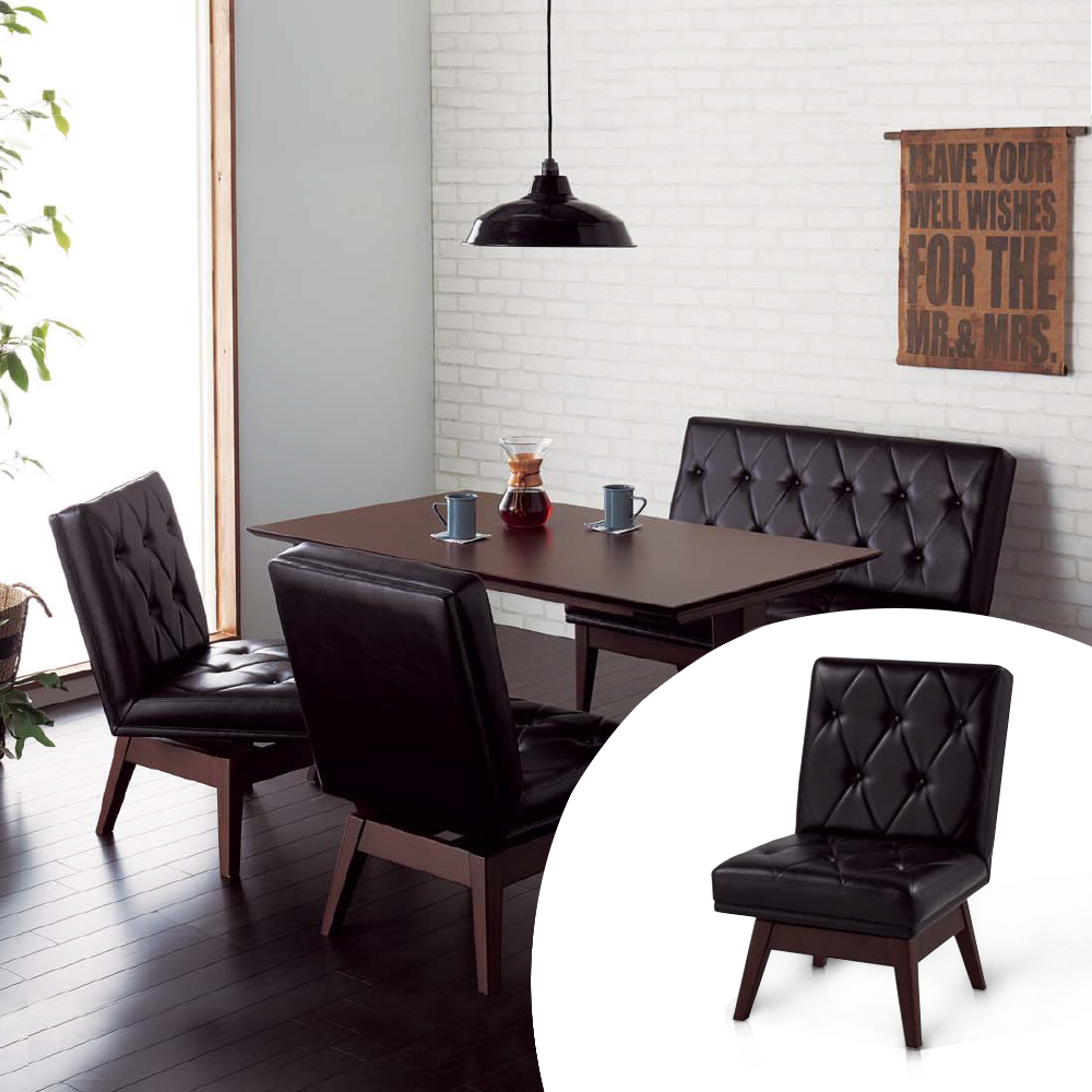 KOIZUMI-Vintage單人旋轉沙發餐椅KLC-2461